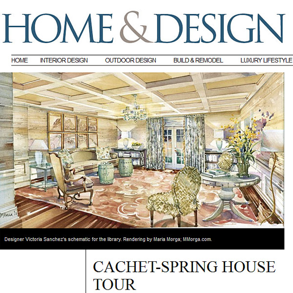 Maria Morga illustration featured in Home & Design