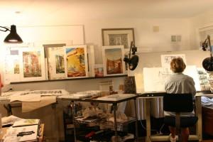 Maria Morga in studio