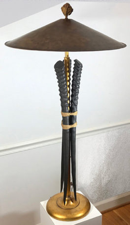Asian Tusk table lamp