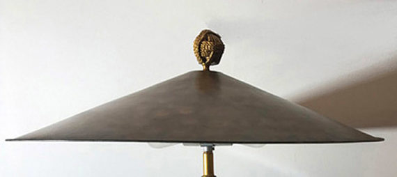 Asian Hat Lamp detail