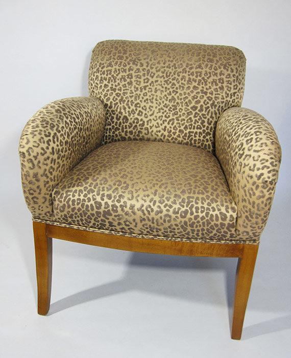 Cheetah chair front view