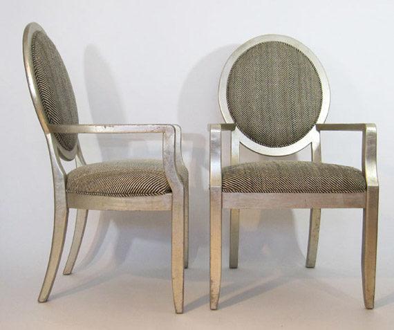 Drexel Heritage Vintage Harris Herringbone Tweed pair