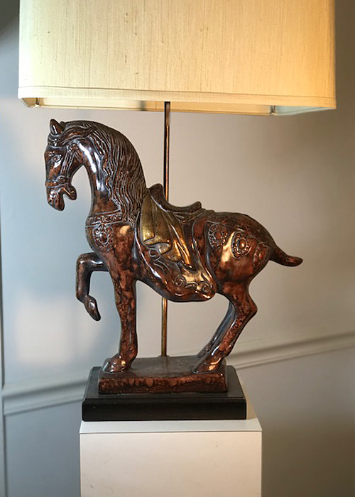 rederick Cooper Vintage Tang Horse Lamp