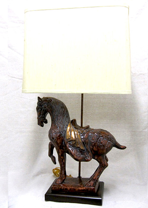 Frederick Cooper Vintage Tang Horse Lamp