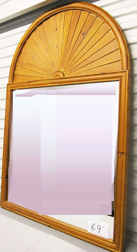 French Country Style Pine Mirror