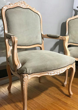 Chateaux D'ax Italian Suede Chairs