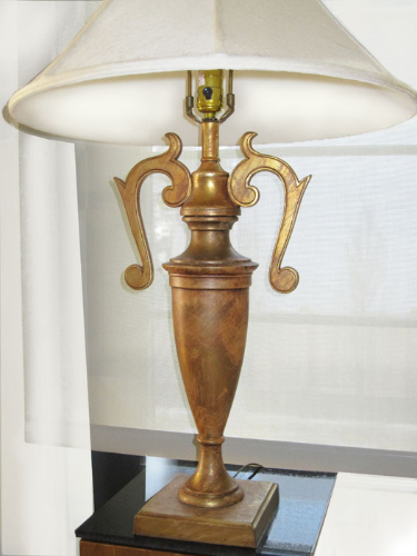 Vintage Fleur-de-lis Lamp