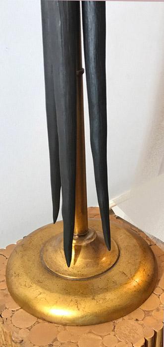 Asian Tusk Table Lamp Base