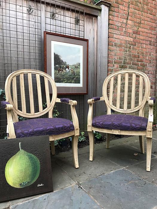 Pair of Vintage Drexel Heritage Dining Armchairs