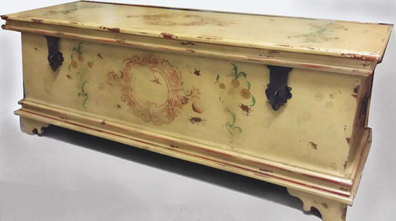 Vintage Painted Blanket Chest